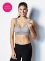 Těhotenská a kojící podprsenka Body Silk Seamless Yoga Grey