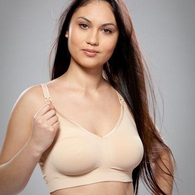 Těhotenská a kojící podprsenka Body Silk Seamless Latte Bravado! designs