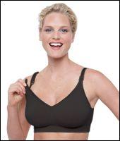 Těhotenská a kojící podprsenka Body Silk Seamless Black Bravado! designs